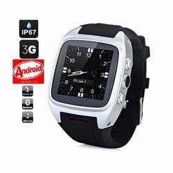 Đồng hồ thông minh theo dõi sức khỏe WIFI 3G Android Wear Bạc