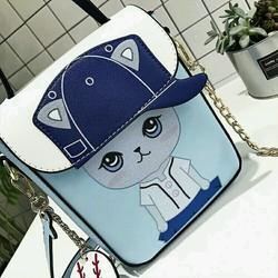 Túi đeo mèo đội nón