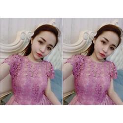 Đầm tùng thân ren