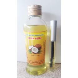 Dầu Dừa Siêu Nguyên Chất Bình Định 120ml - Tặng 1 Mascara dưỡng mi