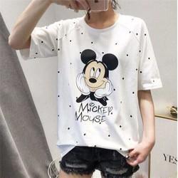 áo thun in chuột micky