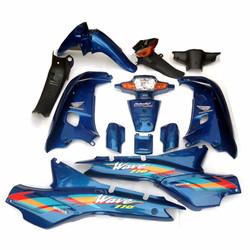 Dàn nhựa xe Wave 110 màu xanh YA loại cao cấp