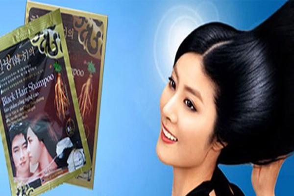 3 gói Dầu gội đen Black Hair Shampoo Hàn Quốc 1