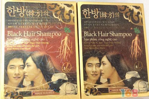 3 gói Dầu gội đen Black Hair Shampoo Hàn Quốc 2
