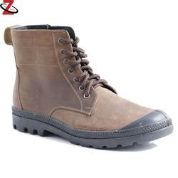 Giày nam cao cổ màu nâu da sáp JK-313
