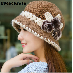nón mũ len vành nhỏ thiết kế korea thu đông cao cấp HNNL49