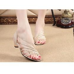 Giày sandal 6 quai ánh kim G02