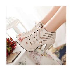 Giày boot nữ cao gót phong cách Hàn Quốc B078K