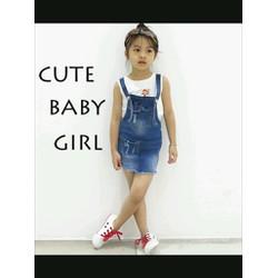Yếm jean bé gái siêu cute size nhí