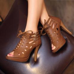 Giày boot nữ cao gót phong cách Hàn Quốc B078B