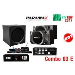 Combo03E:Loa P900, Amply SA999 XP, Đầu LS3000, Micro Pro8000, SUB S600