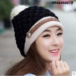 nón mũ len nữ thần thời trang thu đông cao cấp HNNL50
