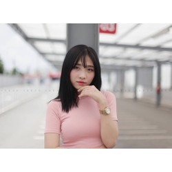 áo croptop VNXK hồng nude