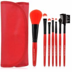 Cọ 7 món Makeup For You cho người mới học trang điểm Kèm bao đựng đỏ