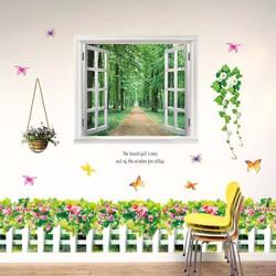 Decal dán tường cửa sổ và chân tường tỉ muội