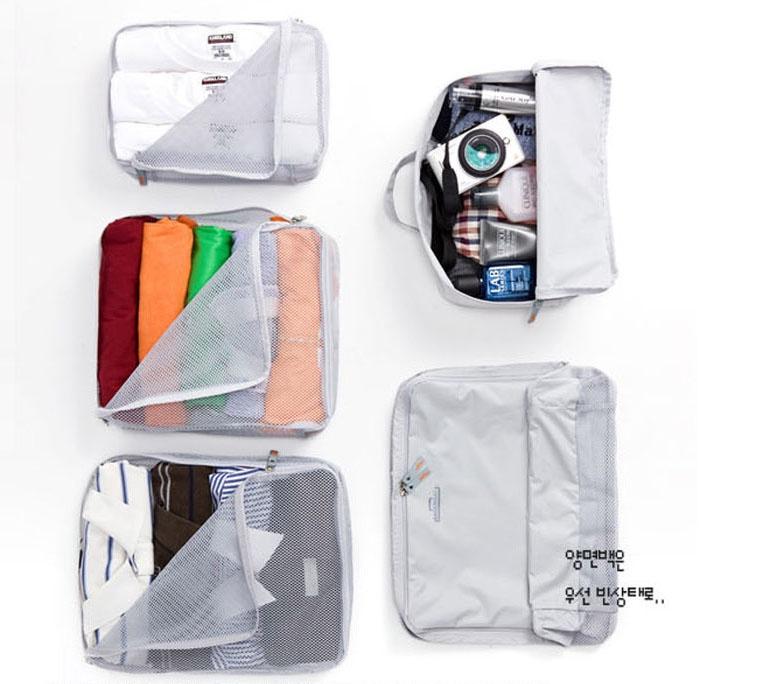 Kết quả hình ảnh cho Bộ 5 túi đựng quần áo hàn quốc