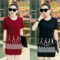 Đầm thun da cá Fashion Girls đỏ thời trang TP1331 có size XXXL