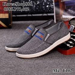 Giày Slip On Vải Mã T102