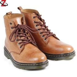 Giày nam cao cổ màu nâu da bóng JK-317
