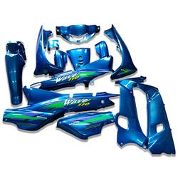 Dàn nhựa xe Wave Alpha màu xanh YA loại cao cấp