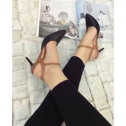 giày cao gót bít mũi nhọn phối màu cá tính
