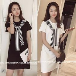 Đầm suông kiểu dáng đơn giản phù hợp cho bạn gái năng động-111