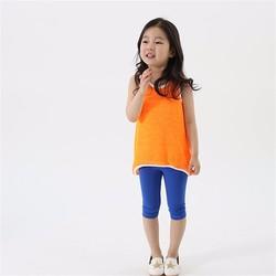 Bộ 2 quần legging lửng cho bé gái 3 tuổi hàng vnxk dư xịn