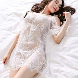 Váy ngủ ren kiêm áo đi biển CDAN30 Trắng