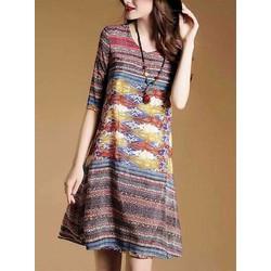 Đầm suông phong cách hiện đại trẻ trung