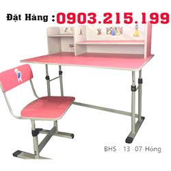 bàn ghế học sinh tiểu học có giá sách BHS 13 07 giá rẻ