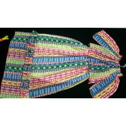 đầm maxi thiết kế sọc dọc hở vai có tay