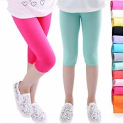 Bộ 2 quần legging lửng cotton xuất khẩu cho bé gái 6 tuổi