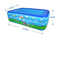 Bể bơi phao 3 tầng cho bé kích thước 210x145x65cm