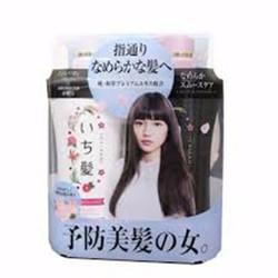 Bộ dầu gội và xả Ichikami Japan hồng