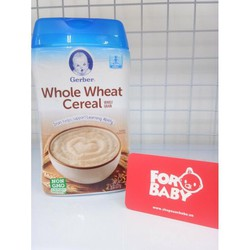 Bột ăn dặm Gerber Baby Cereal - Whole Wheat