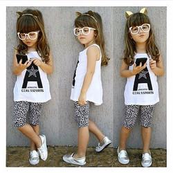 Quần legging lửng xuất khẩu chất lượng cao cho bé 2 tuổi