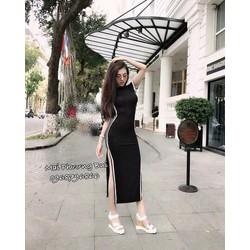 Đầm Maxi Thun Khoét Eo