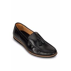 Giày mọi nam nơ chuông G11 màu đen cá tính