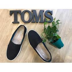 GIÀY TOMS CAO NAM NỮ ĐEN TRƠN