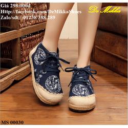 DeMikka giày vải cao cổ