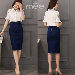 HÀNG ĐỦ SIZE: Chân váy jean thiết kế Mee Boutique dáng ôm nữ tính