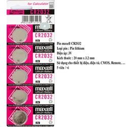 Pin maxell CR2032 - 3V - 5 viên = vỉ