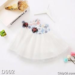 Váy đầm công chúa in họa tiết hoa bồ công anh cho bé gái giá rẻ