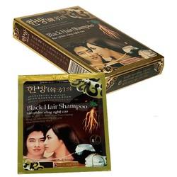 3 gói Dầu gội đen Black Hair Shampoo Hàn Quốc
