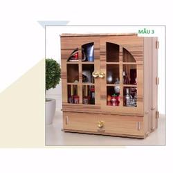 Tủ gỗ đựng đồ trang điểm mini 2 cánh