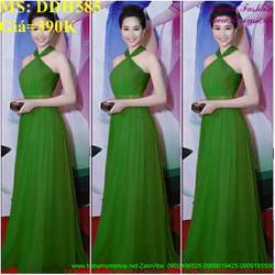 Đầm dạ hội kiểu cổ yếm xinh đẹp và sang trọng DDH585