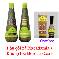 Combo Dầu gội xả macadamia + Dưỡng tóc Morocco Care