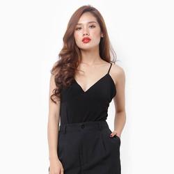 Áo 2 dây body jumsuit phong cách màu đen