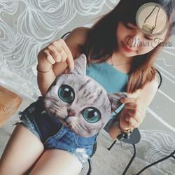 Túi xách nữ hình con mèo con dễ thương phụ kiện thời trang độc đáo