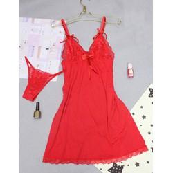 Đầm ngủ thun ren mềm mịn mát hàng xuất khẩu cao cấp - D697